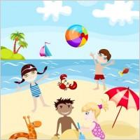 Link toCartoon kids summer 02 vector