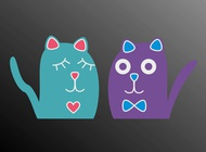 Link toCartoon kittens vector free