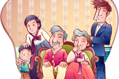 Link toCartoon korea family vector