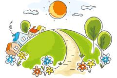 Link toCartoon landscape vector illustration