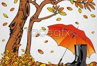 Link toCartoon leaf umbrella illustrator vector