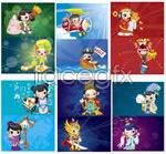 Link toCartoon legends figures vector