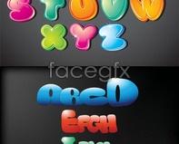 Link toCartoon letters highlight texture vector