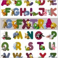 Link toCartoon letters vector