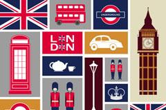Link toCartoon london design elements vector