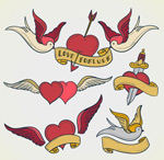 Link toCartoon love and dove vector