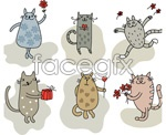 Link toCartoon love kitten vector