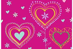 Link toCartoon love patterns-vector