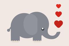 Link toCartoon love spray elephant vector