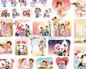 Link toCartoon love vector tools