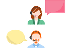 Link toCartoon male and female customer service design vector