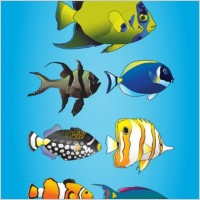 Link toCartoon marine fish vector