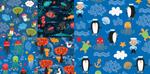 Link toCartoon marine life shading vector