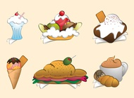 Link toCartoon meals set vector free