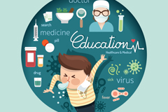 Link toCartoon medical and health information vector