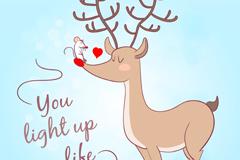 Link toCartoon mice and deer, vector