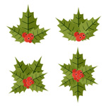 Link toCartoon mistletoe vector