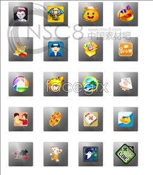 Link toCartoon mobile themes icons