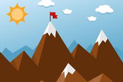Link toCartoon mountain background vector