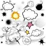 Link toCartoon mushroom cloud layer vector