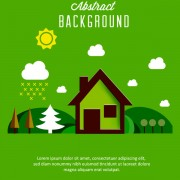 Link toCartoon nature background vector free
