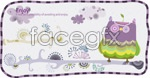 Link toCartoon owl designs vector
