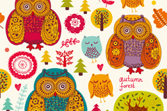 Link toCartoon owl vector background