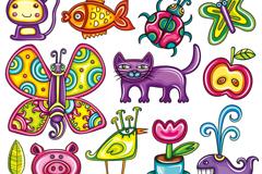 Link toCartoon painted animals vector