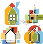 Link toCartoon painted houses vector