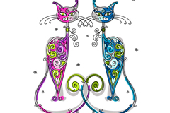 Link toCartoon pattern cat vector illustration