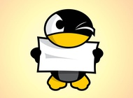 Link toCartoon penguin character vector free