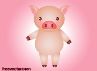 Cartoon pig vector free