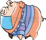 Link toCartoon pig vector