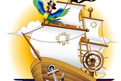 Link toCartoon pirate ship vector illustration