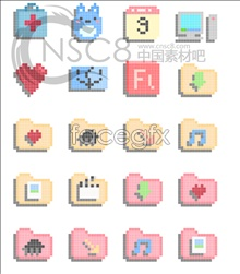 Link toCartoon pixels desktop icons