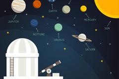 Link toCartoon planetarium and solar vector