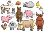 Link toCartoon poultry animals vector