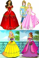 Link toCartoon princess beautiful princes vector