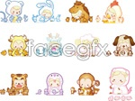 Link toCartoon q 12 chinese zodiac signs vector