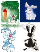 Link toCartoon rabbit vector