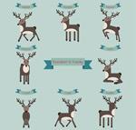 Link toCartoon reindeer vector