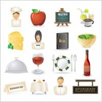 Link toCartoon restaurant icon vector