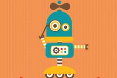 Link toCartoon robot background vector