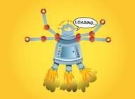 Cartoon robot graphics vector free
