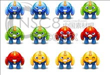 Link toCartoon robot icons