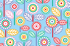 Link toCartoon round floral seamless background vector