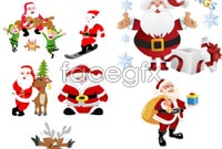 Cartoon santa vector model
