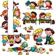 Link toCartoon school children cute design vector 04 free