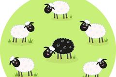 Link toCartoon sheep eating grass vector
