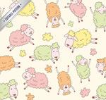 Link toCartoon sheep seamless background vector